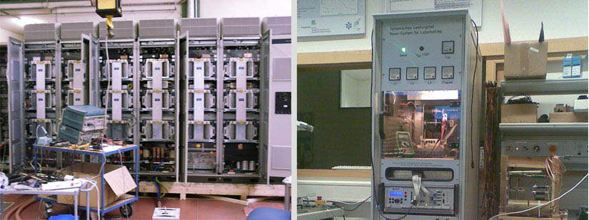 Troubleshooting in a 1MW IGBT inverter & Test cabinet for IGBT inverters